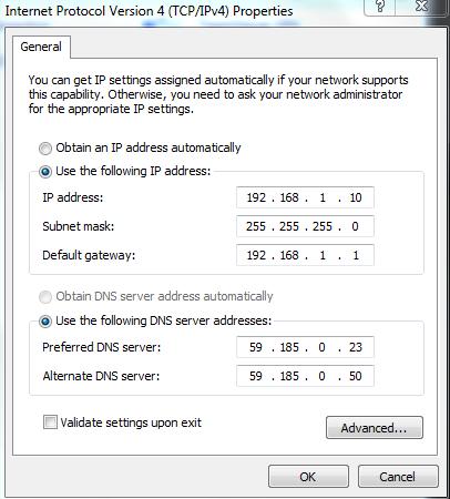 MTNL Mumbai IP/DNS/SubnetMask Settings  [Images] | iphonefizz